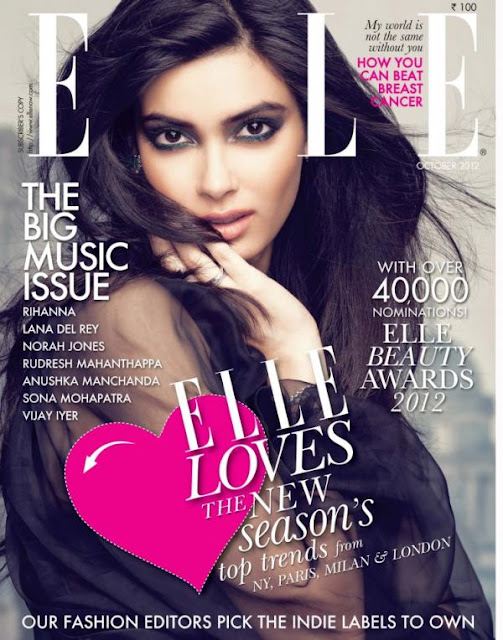 Diana Penty Photo Shoot for Elle India [October 2012]