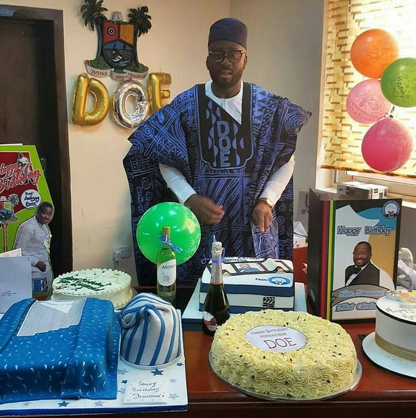 Photos: Nollywood Hon. Desmond Elliott Marks 42nd Birthday Today At Lagos State House Of Assembly