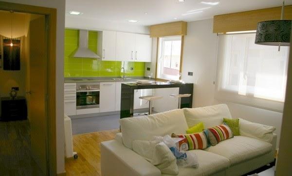 Casa com detalhe blog revestimentos de cozinha for Decoracion de living comedor y cocina integrada