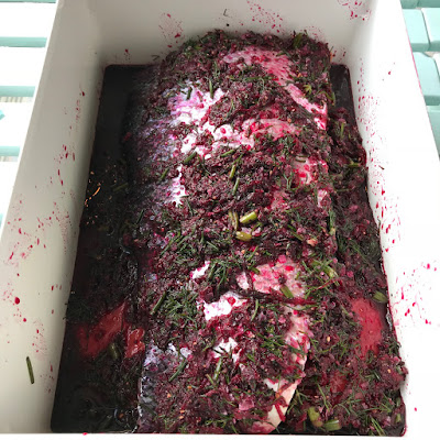 Beetroot and Dill cured Salmon - The Grazer