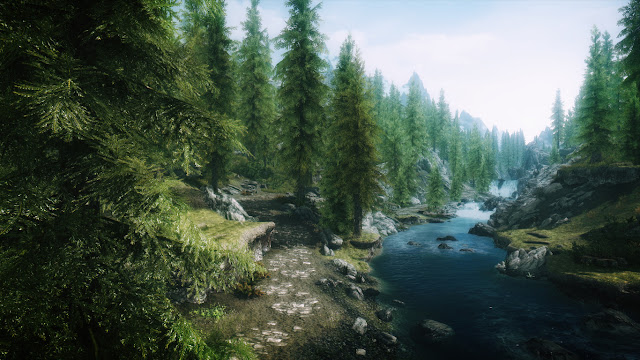 Skyrim with mods