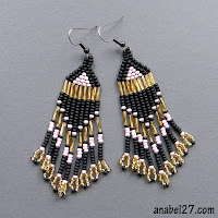native american seed bead earrings black and gold blog beadwork tribal