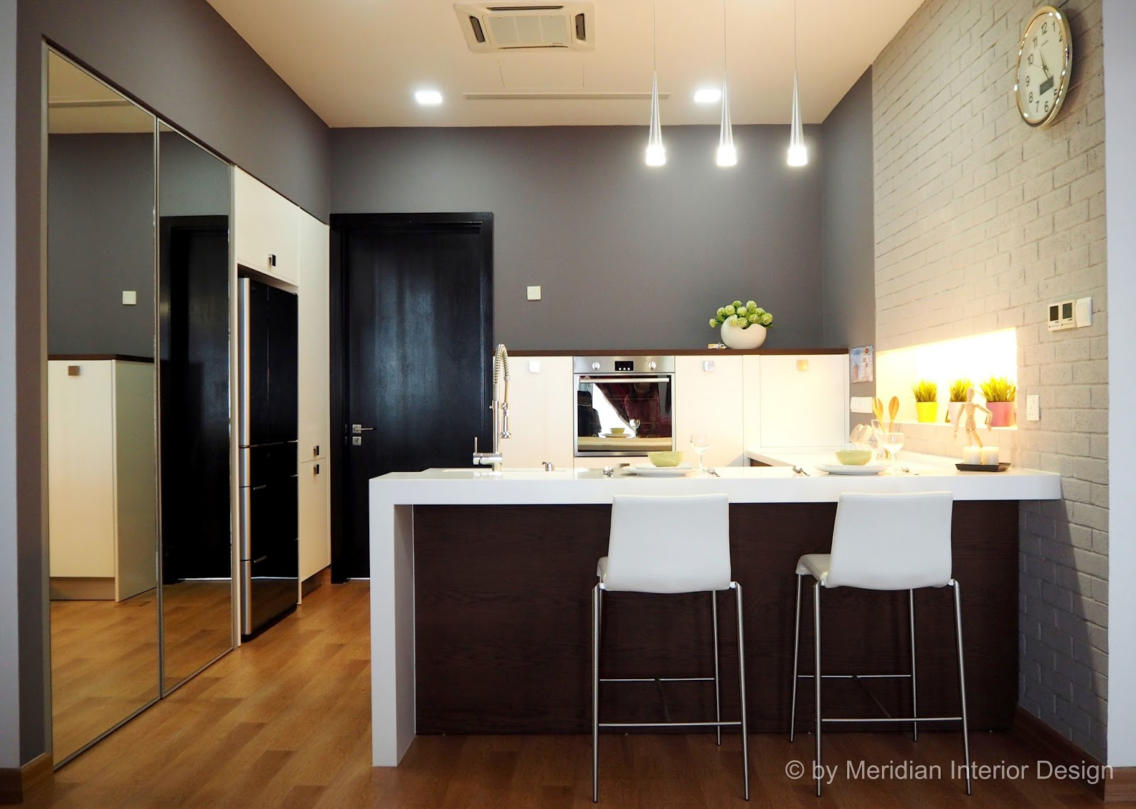 compact kitchen design for small house unit - Compact House Interior