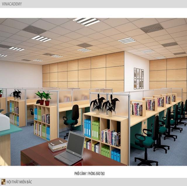 Mẫu vách ngăn văn phòng tạo sự độc lập, riêng tư cần thiết cho nhân viên văn phòng