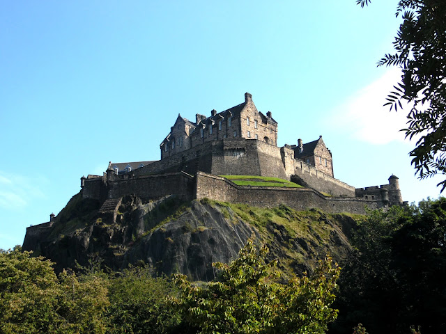Edinburgh castle on the hill in summer