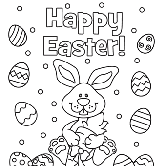 Free Easter Eggs Bunny Coloring Pages 2021