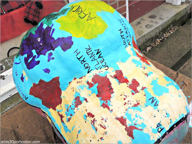 Calabazas Decoradas para Halloween: Mapa Mundial