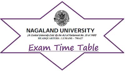 Nagaland University Routine 2021