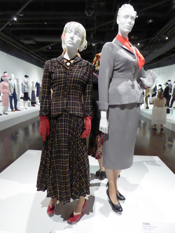 Carol movie costume exhibit FIDM Museum