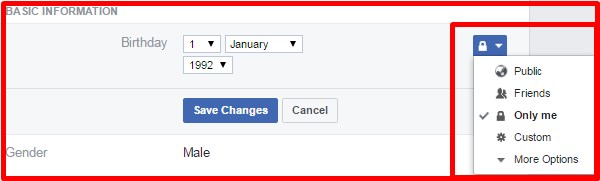 how to change date of birth in fb account
