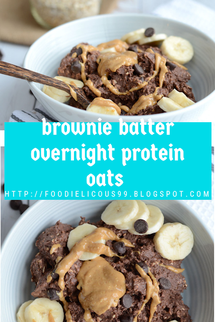 brownie batter overnight protein oats (Vegan , Gluten Free )