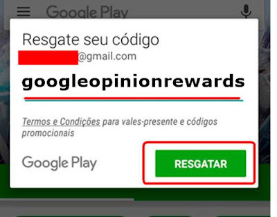 Google Opinion Rewards como regatar saldo