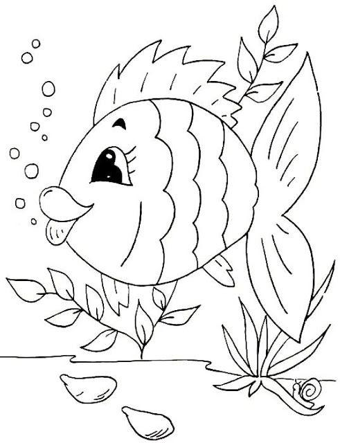 Tranh tô màu con cá 9