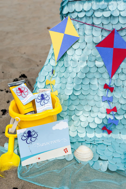 Sunscreen is a must at your beach party. See what other musts you need at www.fizzyparty.com