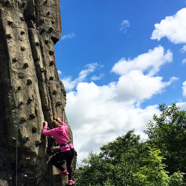 rock climbing at walltown northumberland newcastle family life blog