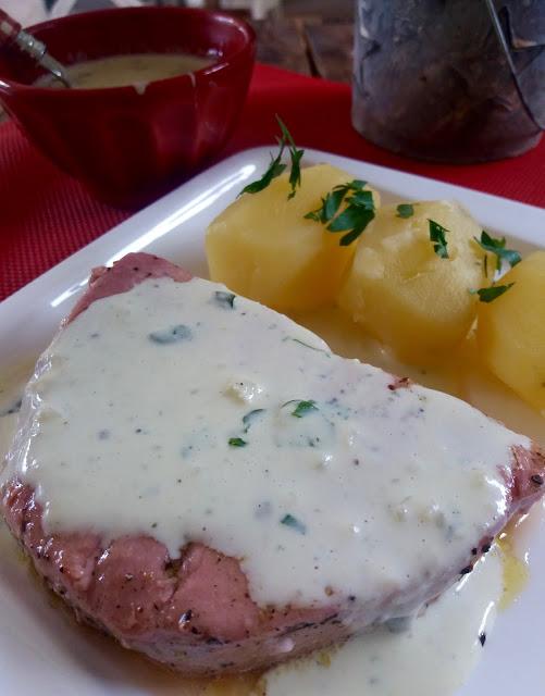 """alt=""""thon sauce crème à l'ail, parmesan et basilic"""""""