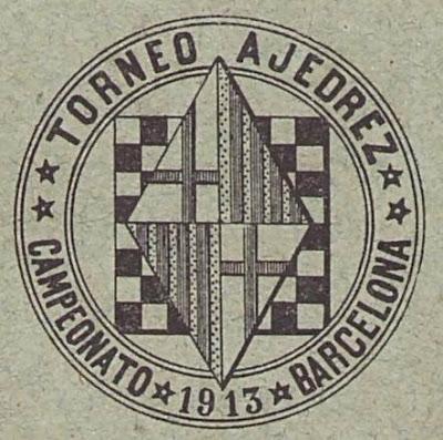 Emblema del Torneo de Ajedrez para el Campeonato de Barcelona 1913