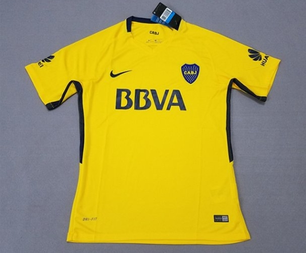 Boca Juniors 2017-18 Away Men Soccer Jersey Shirt Yellow