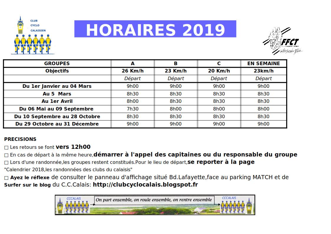 Calendrier Cyclotourisme 2019 Nord Pas De Calais.Club Cyclotouriste Calais Parcours 2019