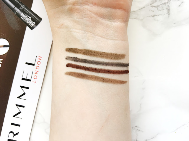 Rimmel Brow Shake Filling Powder Swatches