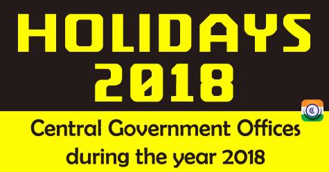 central-government-holiday-list-2018