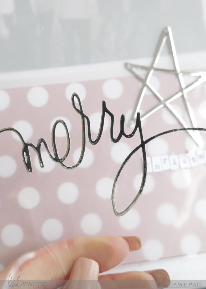 How To Minc Christmas by Jamie Pate | @jamiepate for @heidiswapp
