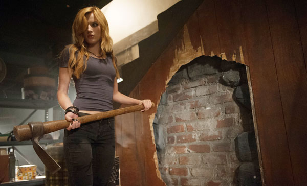 Belle (Bella Thorne) finds out the truth about the house in AMITYVILLE: THE AWAKENING (2017)