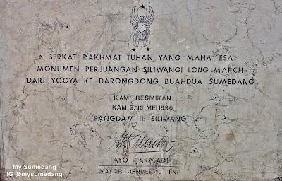 Monumen Longmarch Siliwangi Darongdong buahdua