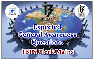 Expected General Awareness Questions (Appointments) for Clerical Mains