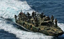 Iranian patrol boat in the Persian Gulf