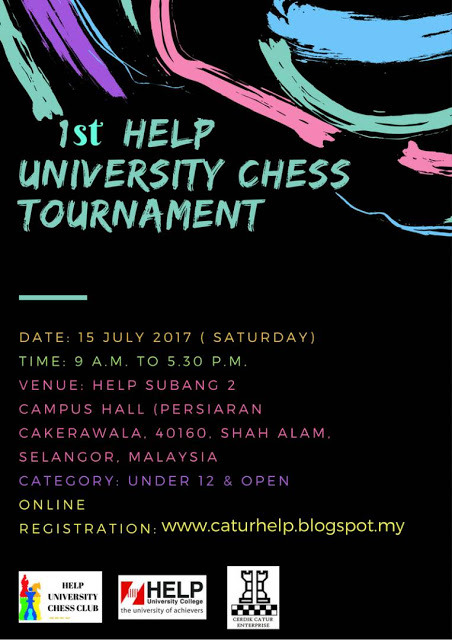 1st Help University Chess Tournament 2017