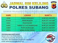 Jadwal SIM Keliling Subang Oktober 2018