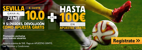 betfair Sevilla gana Zenit supercuota 10 Europa League 23 abril