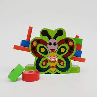 Mainan Kayu Timbangan Kupu-kupu