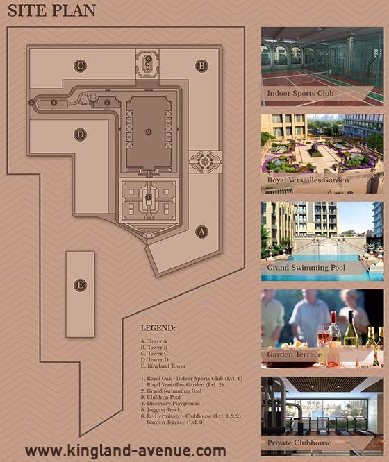 Siteplan Kingland Avenue Apartemen Serpong Facilities