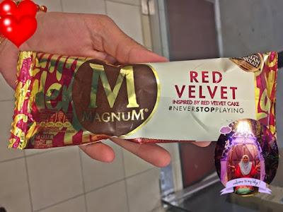 Magnum Red Velve, perisa baru magnum, magnum new flavor,, sedap, best tak, manis tak, rasa macam mana,