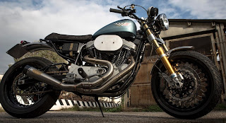 the hinny sportster scrambler with mule frame by olivi motori