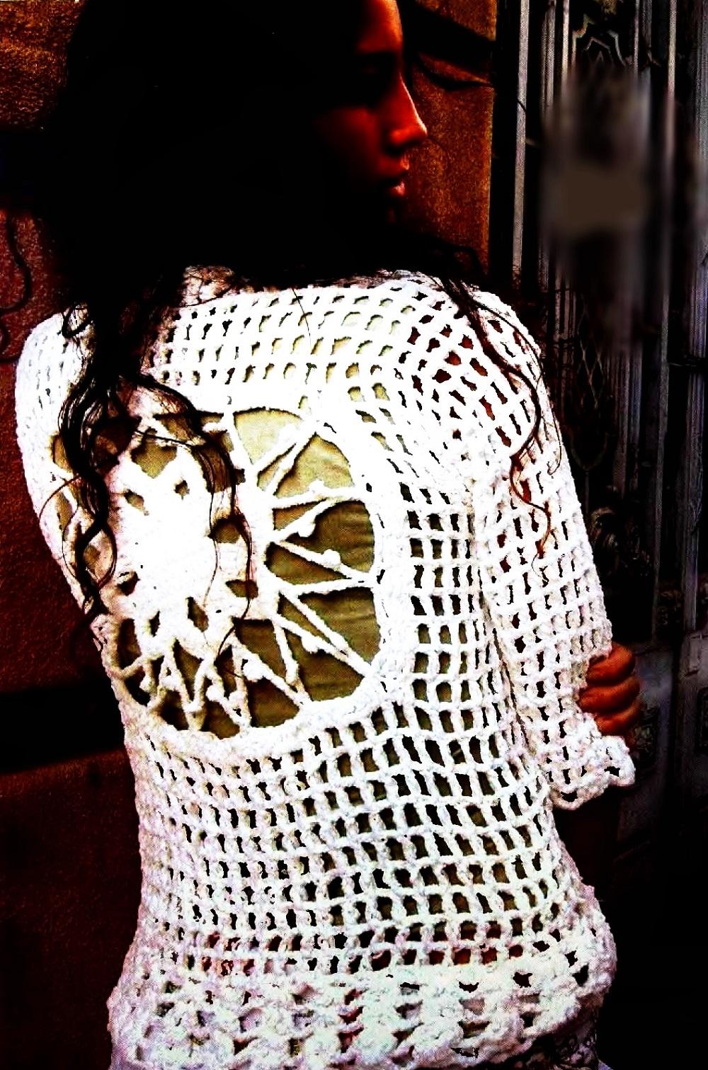 Jersey con Mandala-Espalda Crochet Patron