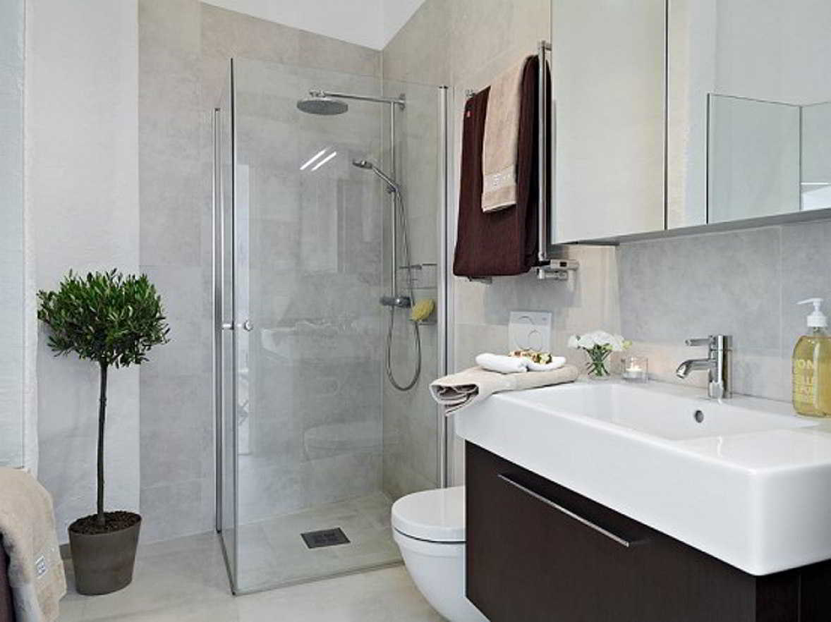 27 banheiros decorados grandes e pequenos confira for Bathroom ideas uk 2015