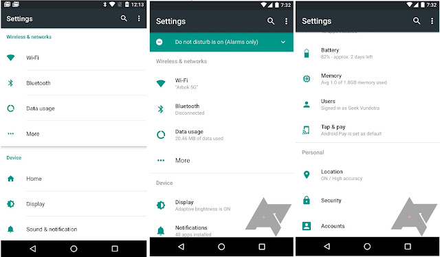 Android N Redesigned Settings App Revealed in New Mockups, New Attractive Visual Design
