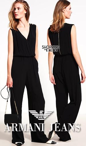 Combinaison pantalon femme noire Armani Jeans