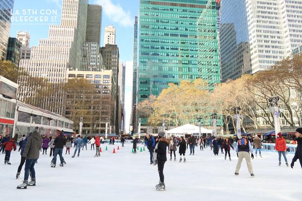 Navidades en Nueva York que ver y hacer pista patinaje Bryant Park