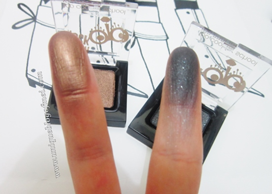 Glam Rock Urban Shadow #5 (Golden Edge) & #7 (Rock Black) swatches