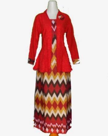 model setelan batik rok panjang