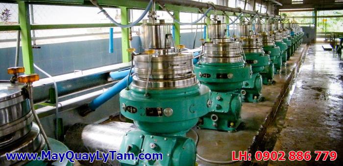 Hệ thống máy ly tâm mủ cao su latex công nghiệp, máy ly tâm dạng đĩa latex separator