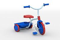 triciclo. juguetes para el desarrollo psicomotriz niños 3 a 4 años