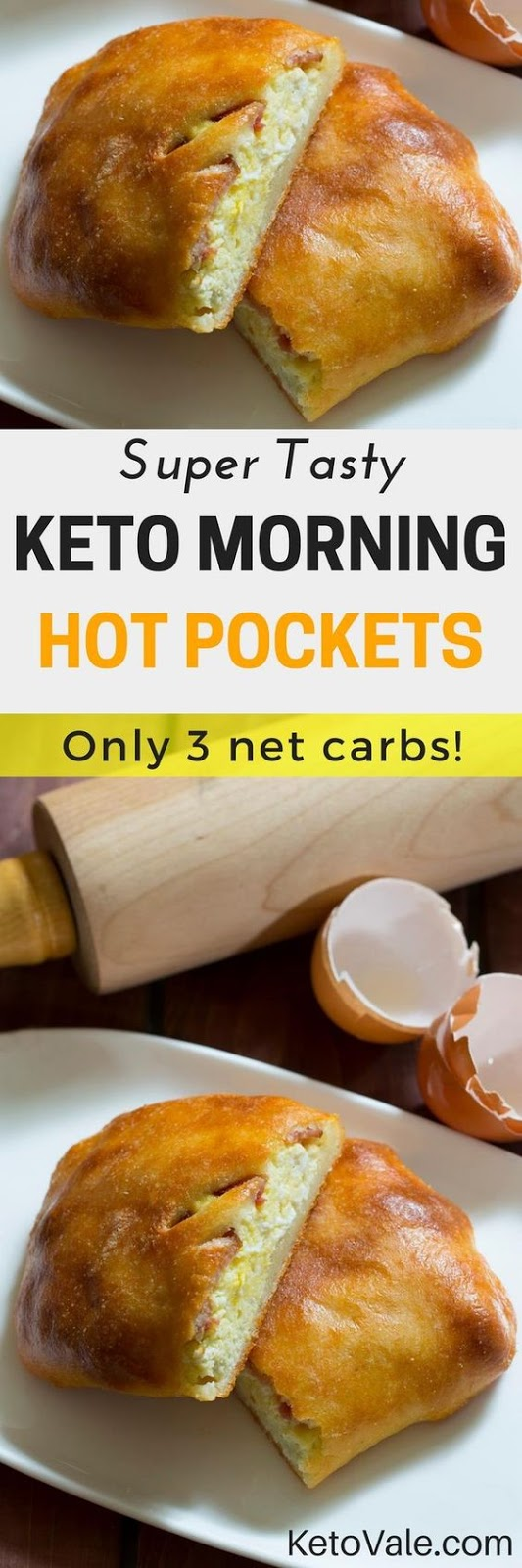 Super Tasty Keto Morning Hot Pockets (Keto - Low Carb)