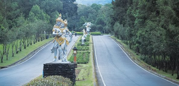 is a large tropical botanic common inwards Bali located inwards  Woow Bali Botanic Garden - Bedugul Bali, Republic of Indonesia Tourist Attraction