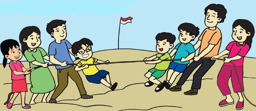 Kumpulan Contoh Gambar Lomba 17 Agustus Kartun Tarik Tambang Hari Kemerdekaan Desain Interior Exterior