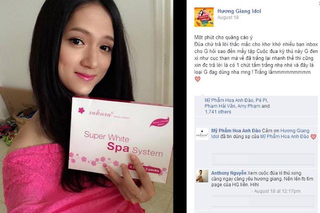 Ca sĩ Hương Giang đánh giá về sản phẩm Sakura